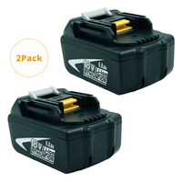 (2 Pack) BL1860 18 Volt 6000mAh LXT Rechargeable Lithium Ion 6.0Ah Battery for Makita BL1860B BL1850B BL1840 BL1830