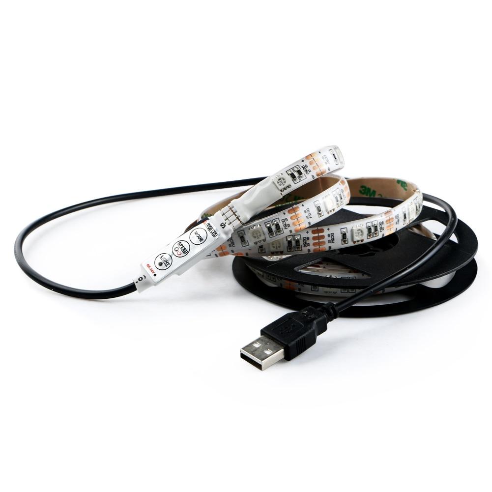 5V Bias Lamp for HDTV USB Power TV Backlight Home RGB 30LED 100cm Waterproof LED Strip Light Reduces Eye Fatigue Ease Eye Strain