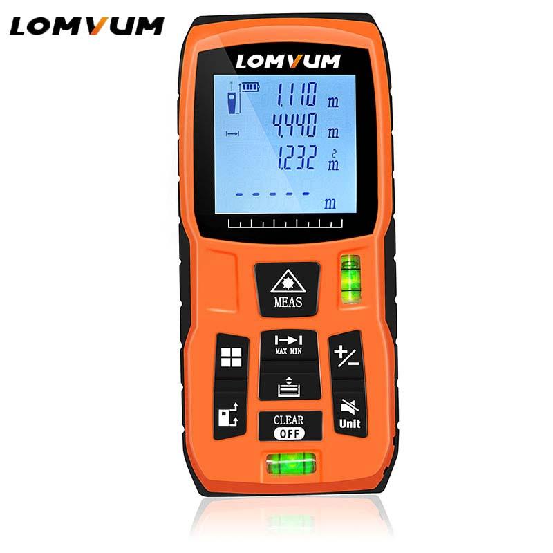 цена LOMVUM LV-5800 Handheld Laser Distance Meter level bubbles laser rangefinder