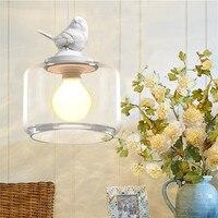 Mediterranean living room bedroom restaurant chandeliers coffee cafe lights birds glass art design lamps pendant lamp WPL157