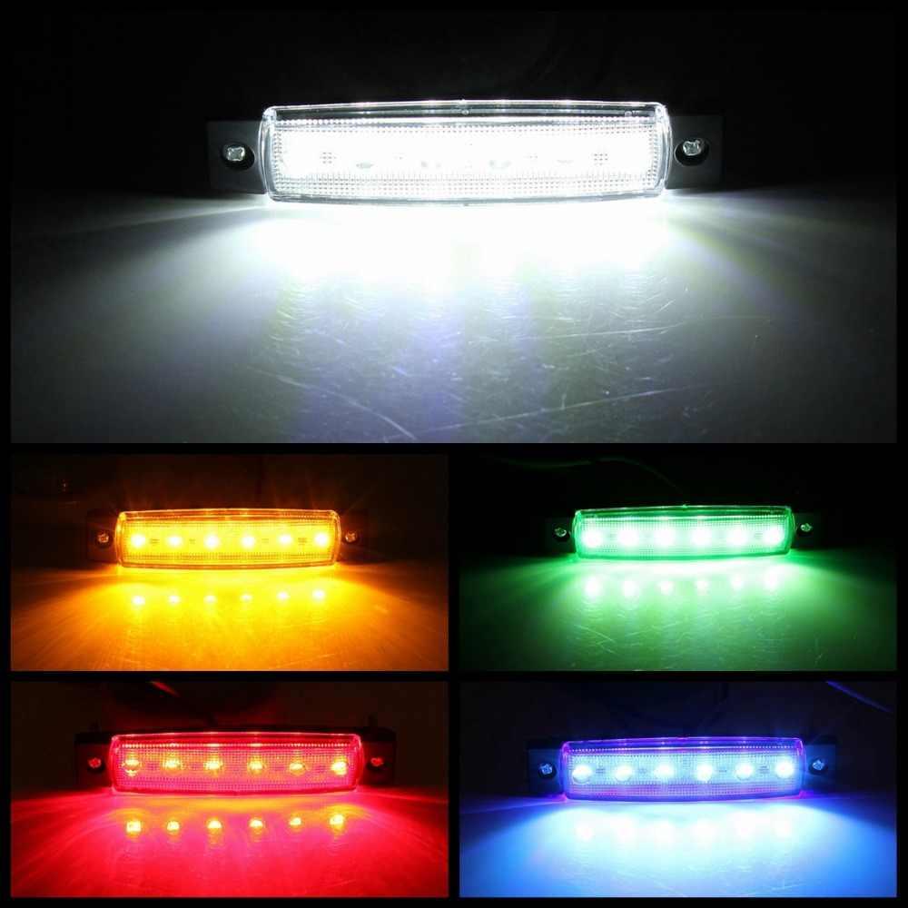 Автомобильные Внешние огни DC светодиодный 24 в 6 Автомобильный светодиодный SMD автомобильный Автобус Грузовик боковой габаритный индикатор низкий светодиодный светильник для прицепа задний боковой фонарь