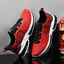 2019 Breathable Flyknit Men Sneakers Design Trendy Men Casual Shoes Spring Summer Male Shoe Adult Training Man's Shoes trendy men s casual shoes with rivets and color block design