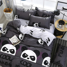 Chinese Style Cartoon Panda Pattern Bedding Set Bed Linings Duvet Cover Bed Sheet Pillowcases Cover Set 3/4pcs/set(China)