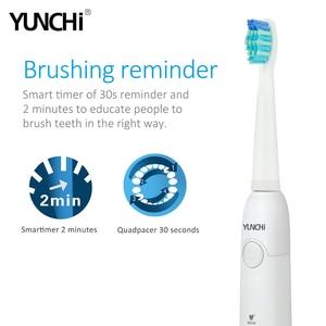 Image 4 - 電気歯ブラシソニック大人タイマーブラシ5モードusb充電器充電式歯ブラシと交換ヘッド防水ギフト