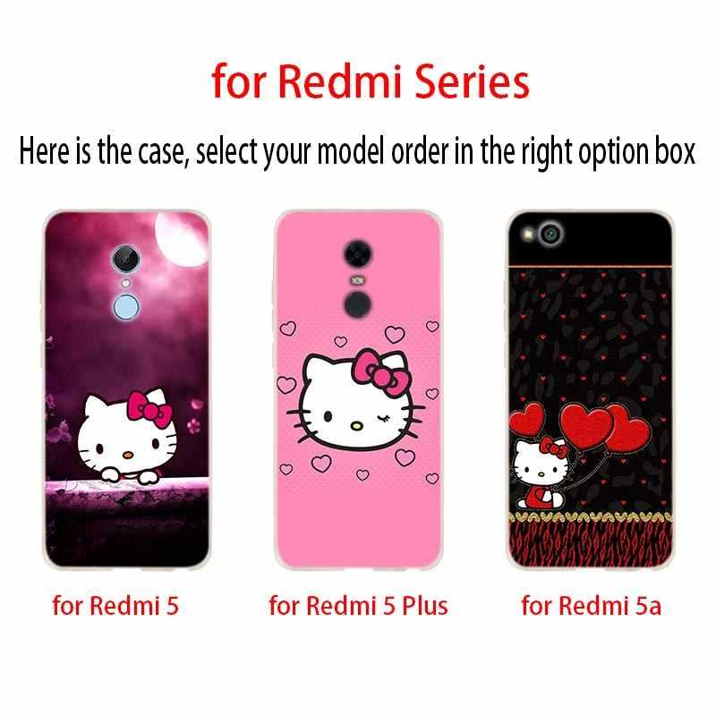 Coque de téléphone À La Mode Kitty Pour Xiaomi redmi Note 7 6 5 4x redmi 7 6pro 6a s2 5a 4a 4x 5 plus y3 Couverture Souple Coque