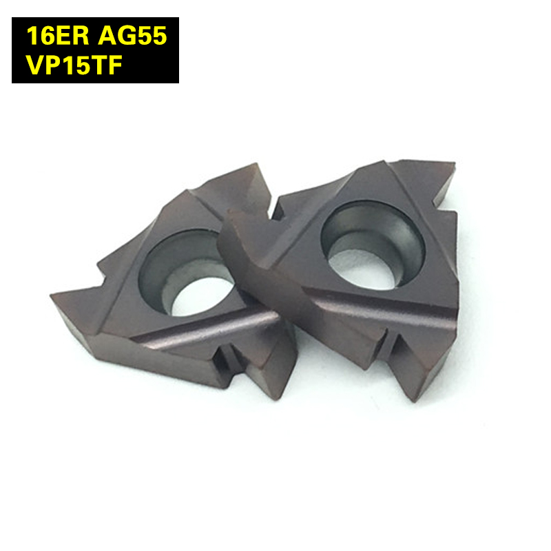 10Pcs 16ER AG55 VP15TF Thread Turning Tools Carbide inserts Cutting Tool CNC Tools Lathe tools Lathe