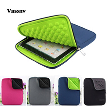 Vmonv EVA Liner Foam Zipper Laptop Liner Sleeve Bag For IPAD 2 3 4 5 6 IPAD Mini Tablet Case Cover For Samsung 8 10 Inch Case