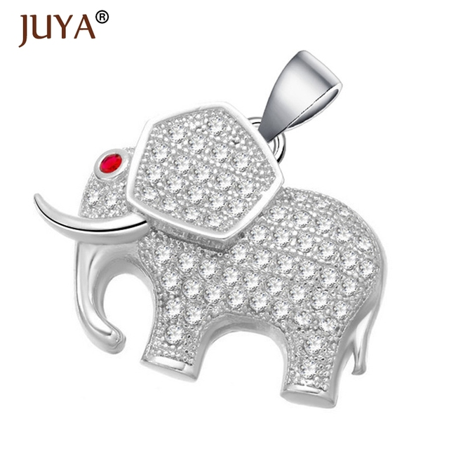 Cute elephant charms necklace western design gold color aaa cubic cute elephant charms necklace western design gold color aaa cubic zirconia animal pendants necklaces jewelry aloadofball Image collections