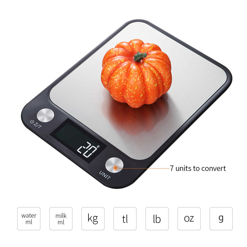Digital Kitchen Scale 5Kg/10Kg 1g Stainless Steel Kitchen Electronic Scales High Accurate Food Baking Scale Weigh Kitchen Scales