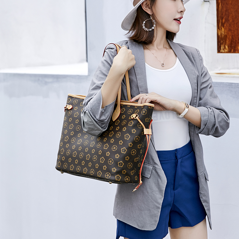 Image 3 - 2019 Fashion Luxury Leather shopping Handbags Handbag Women's Bag Top Handle Bags Tote High Quality Luxury Shoulder Bags-in Top-Handle Bags from Luggage & Bags