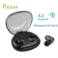 Wireless Touch Bluetooth Earbuds Airpods Padear Hi Fi Stereo Earphone Mini Portable Wireless Waterproof HEADSET With