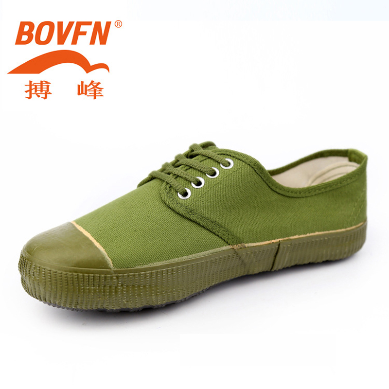Low-top Rubber Safety Shoes Man Industrial Farmland Garden Military Wear-resistant Non Slip Canvas Shoes Work Army Green Foot цена