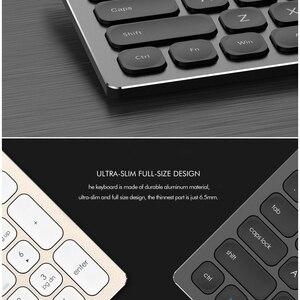 Image 4 - Alluminio senza fili della tastiera del metallo di 2.4Ghz & BT, 110 dispositivi a grandezza naturale di chiavi 3 che funzionano sincronicamente, tastiera del Desinger ergonomica