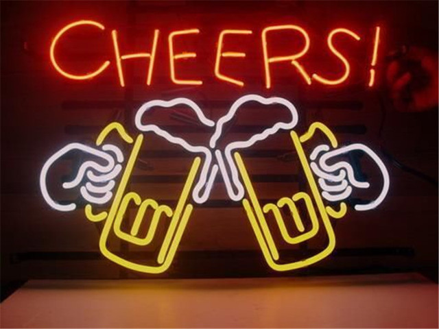 Neon sign for cheers beer signboard real glass beer bar pub display neon sign for cheers beer signboard real glass beer bar pub display christmas light signs 17 aloadofball Image collections