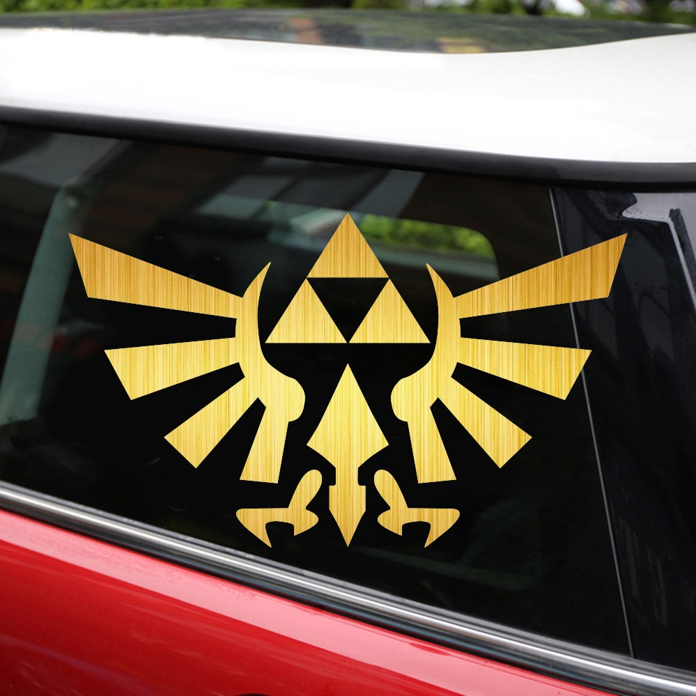 Tancredy the 2nd half price 159cm 3d car styling sticker zelda triforce anime car stickers and decals car body window stickers in car stickers from
