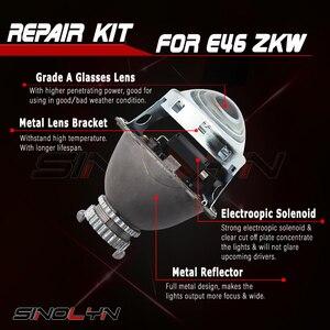 Image 3 - طقم تصليح عدسات ثنائية زينون لسيارات BMW E46 3 Series ZKW D2S زينون المصباح 1998 2005 عدسات HID ملحقات استبدال لتقوم بها بنفسك