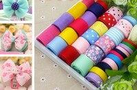 New ! Child hair accessory diy handmade ribbon bow material organza/satin/grosgrain lace ribbon set