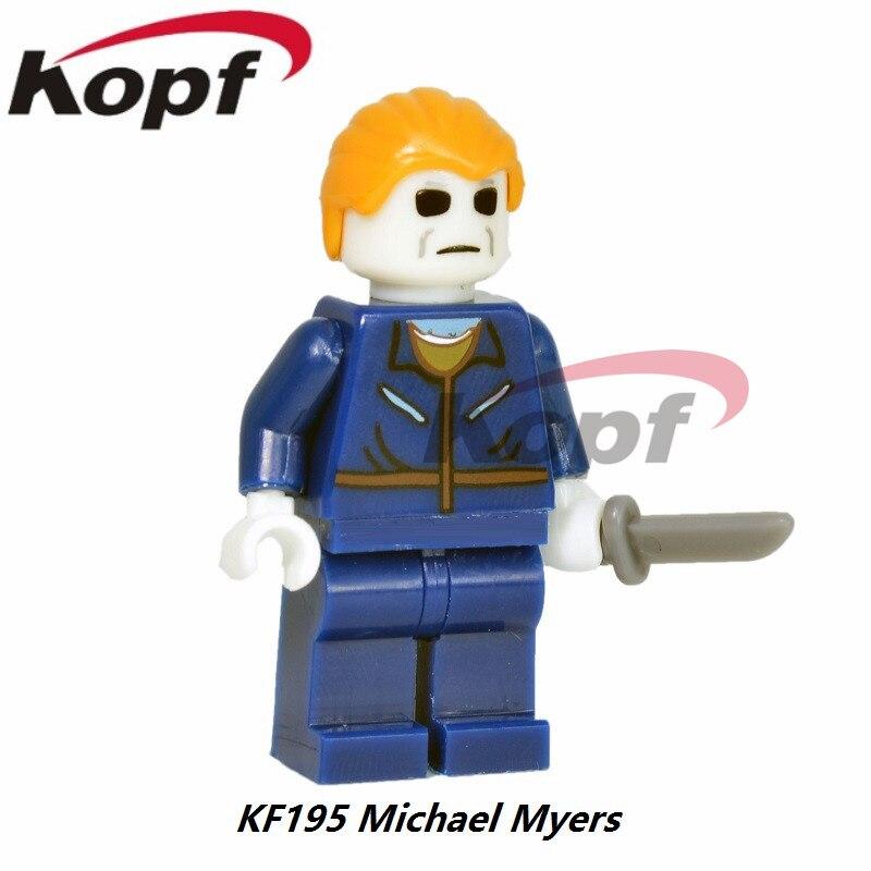 Single Sale The Horror Theme Movie Michael Myers Candyman Hannibal Clockwork Orange Building Blocks Children Gift Toys KF195