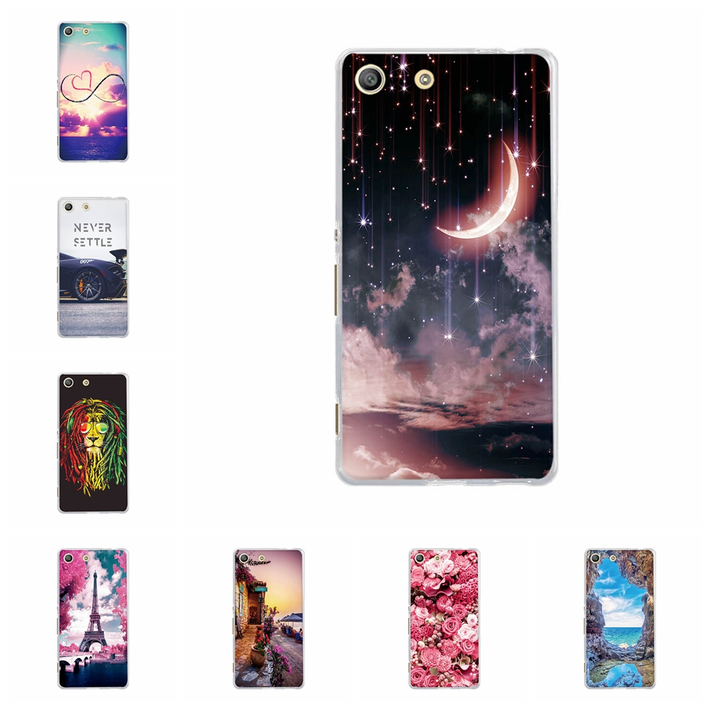 Capa For Sony Xperia M5 Cover Case Ultra-slim TPU Silicone For Sony Xperia M5 E5603 E5606 E5653 Cat Patterned For Sony M5 Coque