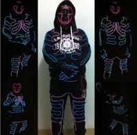 EL costume New Fashion EL SuitsLED/EL Clothes Luminous Costumes Glowing Gloves Shoes Light Clothing Men EL Masks Clothe Dance