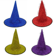 73e6f8151ab Colorful Adult Women Men Witch Hat Stage Performance Party Hats Halloween  Costume Accessory Party Cosplay Props