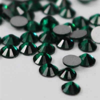 2017 3D Smaragd Ss3-ss34 Flache Rückseite Nail art Kristall Dekorationen Kleber auf Strass für Nägel Stein diy shose und telefon shell