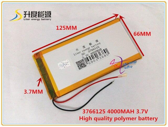 3.7 v 4000 mAH 3766125 Polímero de iones de litio/batería Li ion ...