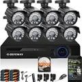DEFEWAY 8 1200TVL 720 P HD Открытый CCTV Камеры Системы Безопасности 1080N Главная Видеонаблюдения DVR Комплект 2 ТБ 8-КАНАЛЬНЫЙ 1080 P HDMI выход
