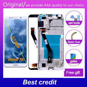 Wansdom LCD display Digitizer for Honor 7A 5.7 inch AUM-l29 AUM-L41 ATU-L11 touch screen Assembly Frame Free Tools