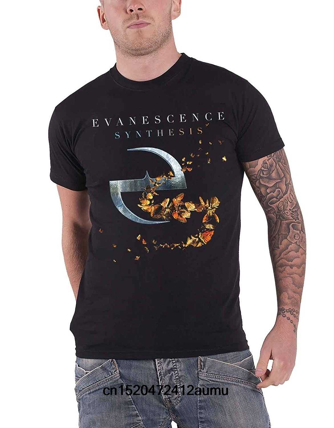 Evanescence T Shirt Synthesis Band Logo Official Mens Black
