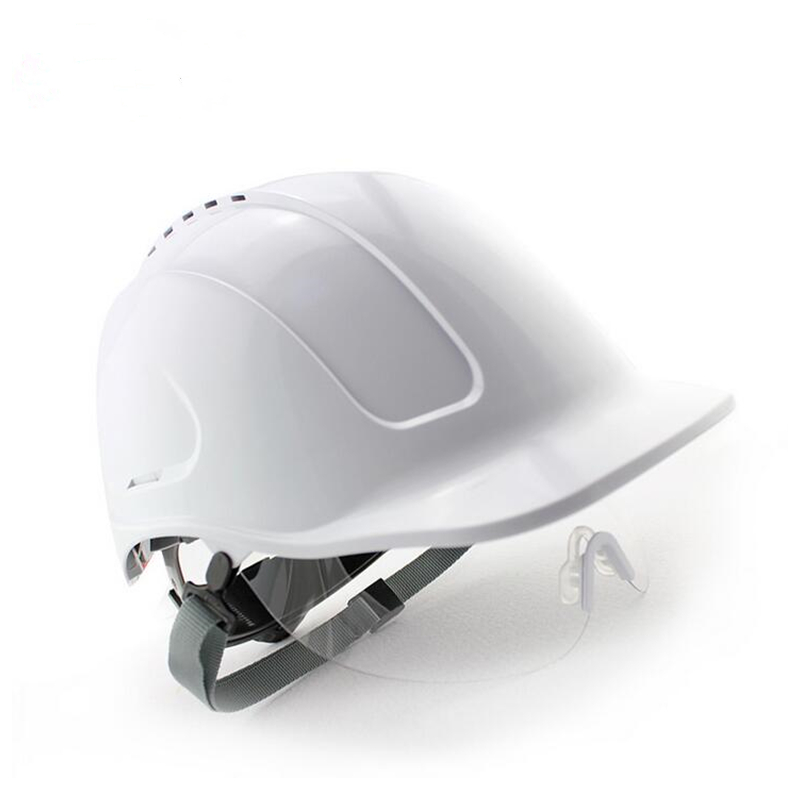 ABS glazed steel building site safety helmet with glasses anti-smash breathable construction site work hard hats site forumklassika ru куплю баян юпитер