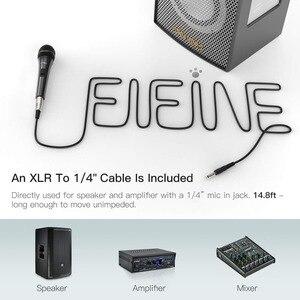 Image 5 - Fifine dinamik mikrofon hoparlör vokal mikrofon ile On/Off anahtarı içerir 14.8ft XLR 1/4 bağlantısı
