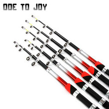 1.5M 1.8M 2.1M 2.4M 2.7M 3.0M 3.6M 4.5M Portable Telescopic Fishing Rod Glass Fiber Fishing Pole Travel Sea Spinning Fishing Rod