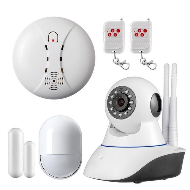 Duplo antena sem fio Da Câmera WI-FI câmera IP Megapixel 720 p HD Digital de Câmera de Segurança Sem Fio em casa Sistemas de Alarme De Alarme De Sensor