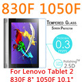 """For Lenovo Yoga Tablet 2 830F 8"""" 1050F 10.1"""" 2.5D HD Tempered Glass Tablet PC Screen Protector Explosion-proof Cover Guard Film"""