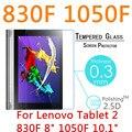 """Para lenovo yoga tablet 2 830f 8 """"1050F 10.1"""" Vidrio Templado 2.5D HD Tablet PC Protector de Pantalla Cubierta de la Película a prueba de Explosiones"""