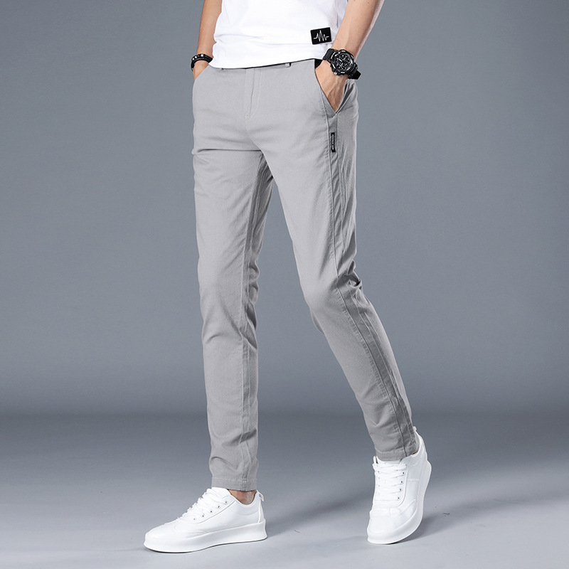 MRMT 2019 Brand Summer Men's Trousers Cotton Slim Thin Section And Handsome Pants For Male Small Feet Leisure Trouser