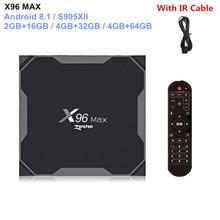 Original X96 MAX Smart TV Box Android 8.1 Amlogic S905X2 Qua