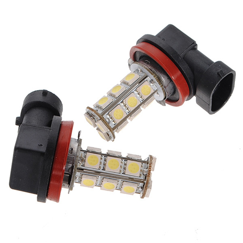 High Quality White H11 H8 18 LED 5050 SMD Car Auto Day Driving Fog Lights Headlight Lamp Bulb DC12V icoco 12v led car auto drl fog lights headlight lamp bulb 2pcs hid white high power 9004 hb1 2835 smd