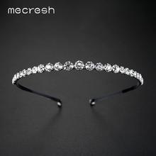 Mecresh Rhinestone Crystal Beads Bridal Headband Hairbands /Simulated Pearl Hair Pin Wedding Hair Accessories Jewelry TS001