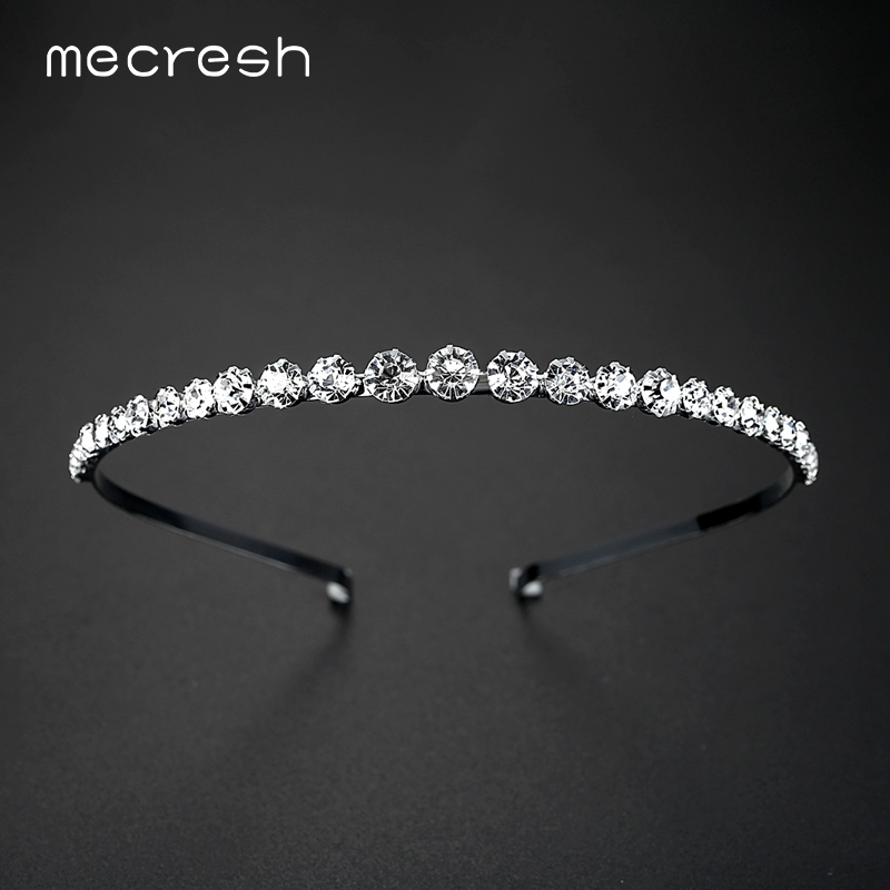 Mecresh Berlian Imitasi Kristal Beads Bridal Headband Hairbands / Simulasi Pearl Hair Pin Pernikahan Aksesoris Rambut Perhiasan TS001