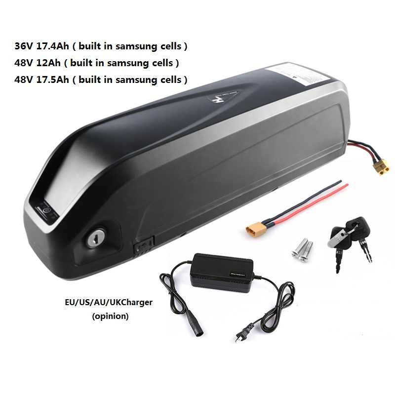 Electric Bike Battery Pack 48V 12Ah 17.5Ah 36V 17.4Ah built in Samsung 18650 Cells Front Rear Hub / Mid Drive Bicycle Motor Kit