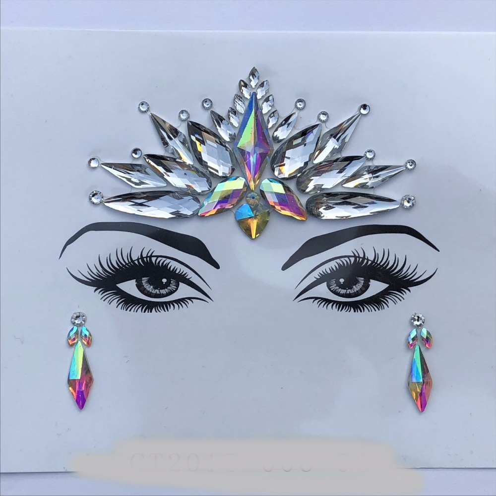 Acrylic Resin Drill Stick Bindi Sticker Handpicked Bohemia Style Face Eyes  DIY Jewels Forehead Stage Decor 0443059fc2c3