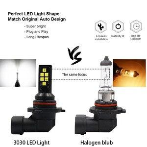 Image 3 - 2 sztuk H11 H8 HB4 9006 HB3 9005 światła przeciwmgielne 3030 chipy LED lampa DRL jazdy samochodem reflektor do jazdy dziennej żarówki samochodowe LED żarówka biały 12V