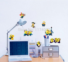 Removable Funny MINIONS decal DESPICABLE ME 2 wall stickers Vinyl Art kids room decor home decoration