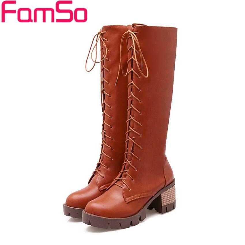Plus Size34 43 2016 Top Fashion font b Women s b font Motorcycle boots High Heels