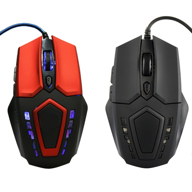 2017 New Promotion 3200 DPI 6D Buttons 2 colors LED USB Wired Gaming Game Mouse Pro Gamer Computer Mice For PC Laptop Suppion