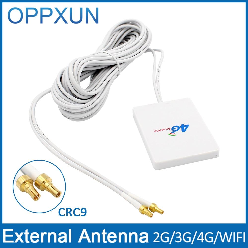 bilder für 4g LTE Pannel Antenne CRC9 Anschluss 3G 4G Router Anetnna mit 3 mt kabel für Huawei 3G 4G LTE Router Modem luft