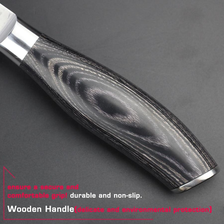 HAOYE damascus aşpaz bıçağı Yapon vg10 super polad mətbəx - Mətbəx, yemək otağı və barı - Fotoqrafiya 5