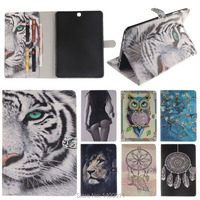Painting Magnetic Cover Leather Case For Samsung Galaxy Tab S2 9 7 T815 T810 Tablet Flip
